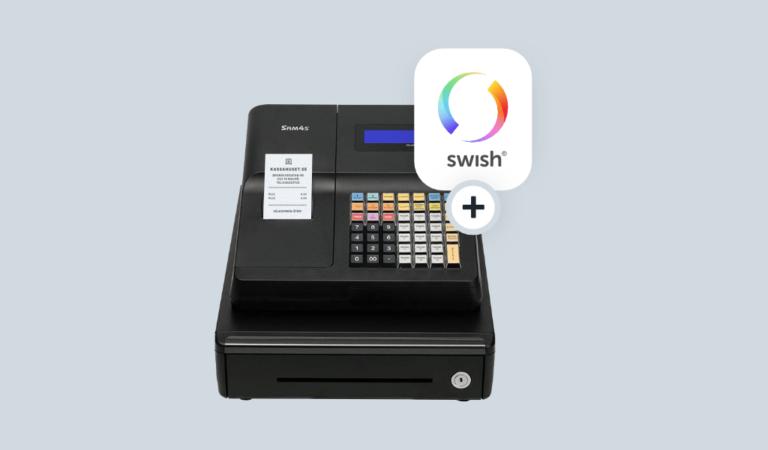 Ta betalt SWISH i kassan med SAM4S ER-260EJ kassaregister.