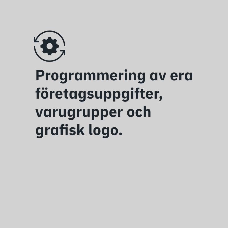 Programmering av kassaregister.