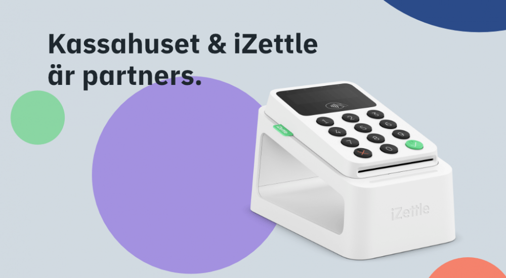 Kassahuset & iZettle är partners.